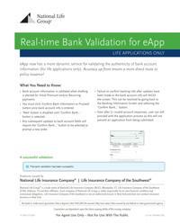 Bank validation for eApp thumbnail image